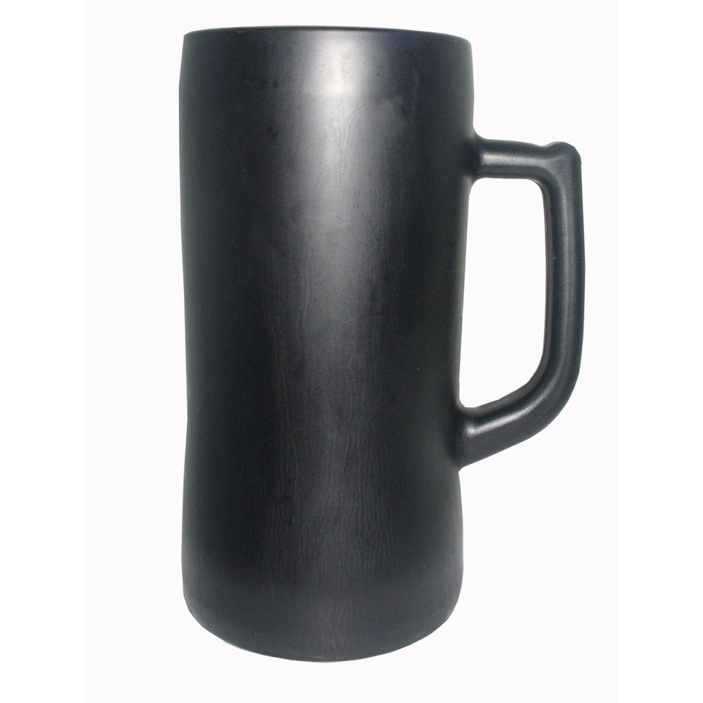 Black Glass Beer Stein - 600ml - The Trophy Superstore
