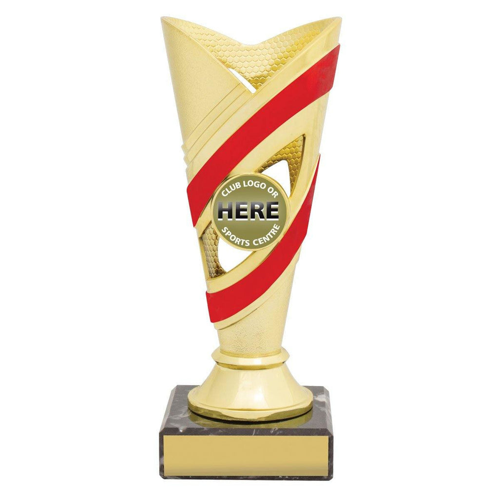 Curve Gold/Red Cups freeshipping - The Trophy Superstore