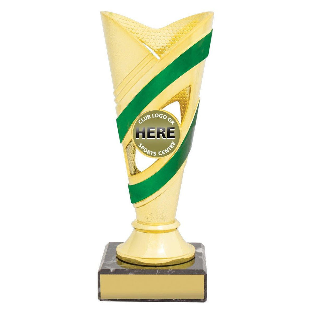 Curve Gold/Green Cups freeshipping - The Trophy Superstore