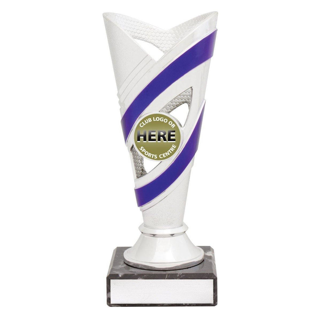 Curve Silver/Purple Cups freeshipping - The Trophy Superstore