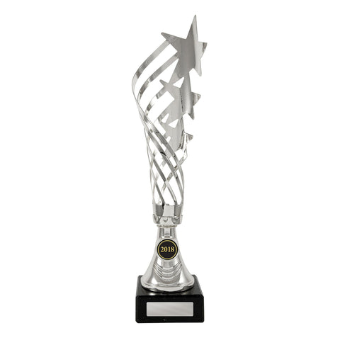 Swirling Star Silver Trophy freeshipping - The Trophy Superstore