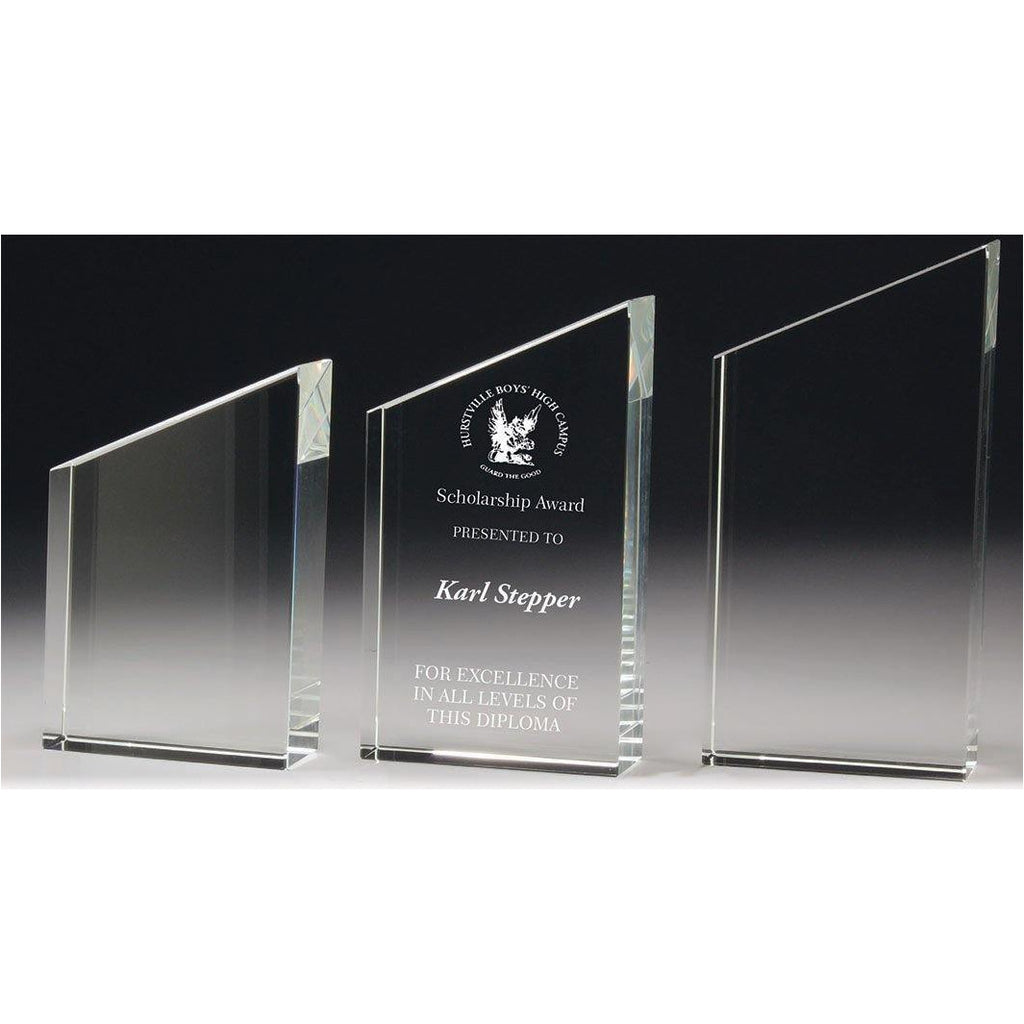 Phoenix Crystal Standing Peak Trophy available in three sizes