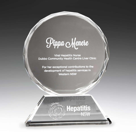 Image of Polaris Sphere Crystal Award freeshipping - The Trophy Superstore