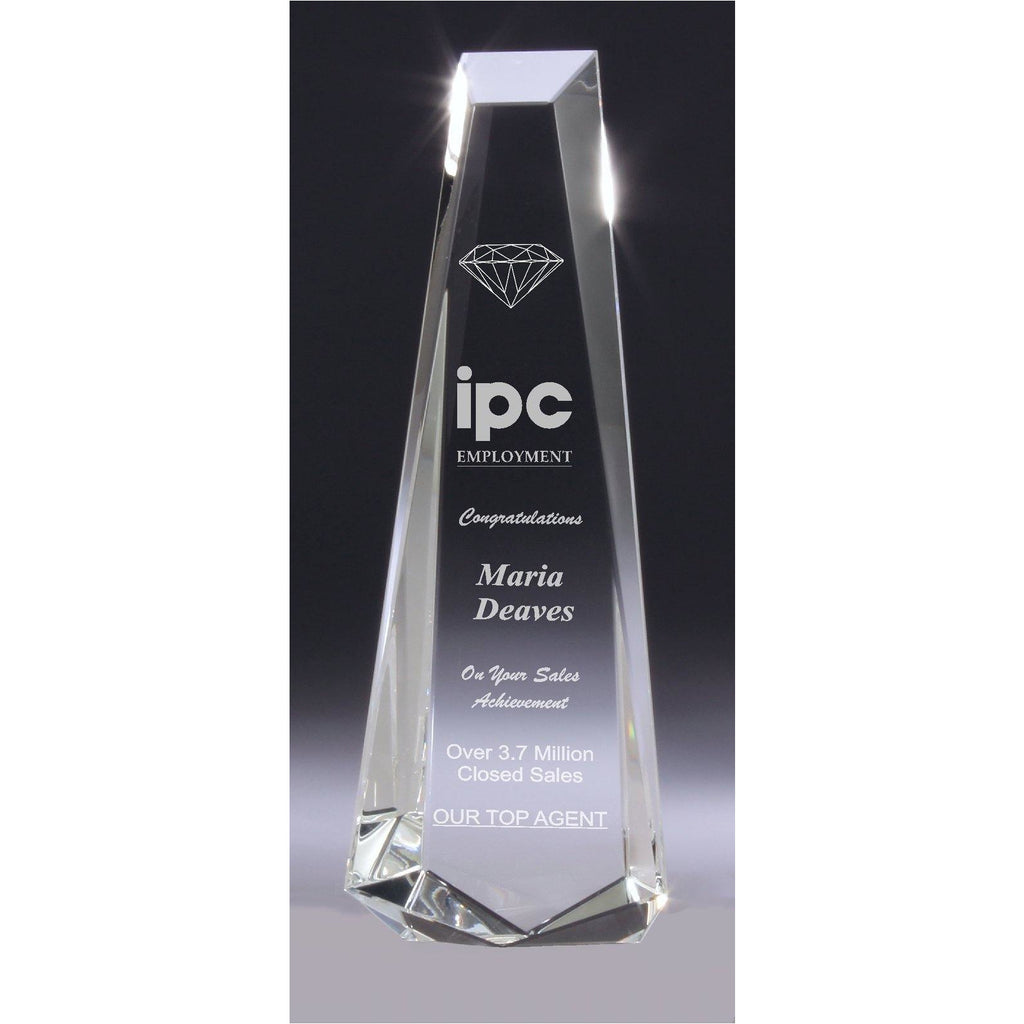 Phoenix Crystal Obelisk Award - 255mm - The Trophy Superstore