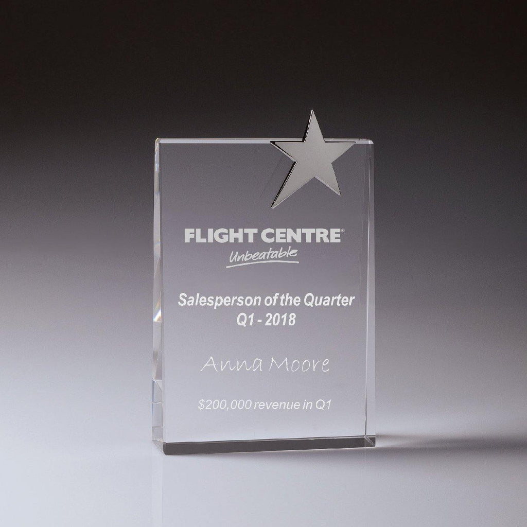 Crystal Star Tablet Award - 165mm - The Trophy Superstore