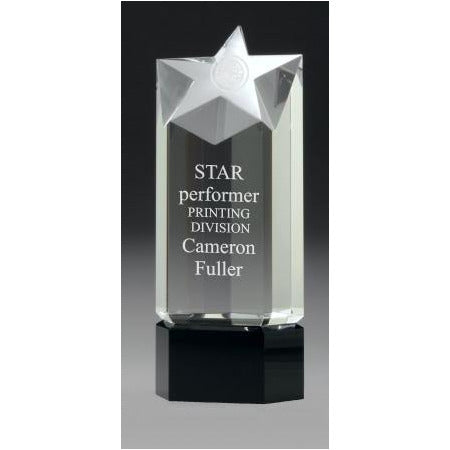Principal Star Crystal Award - The Trophy Superstore