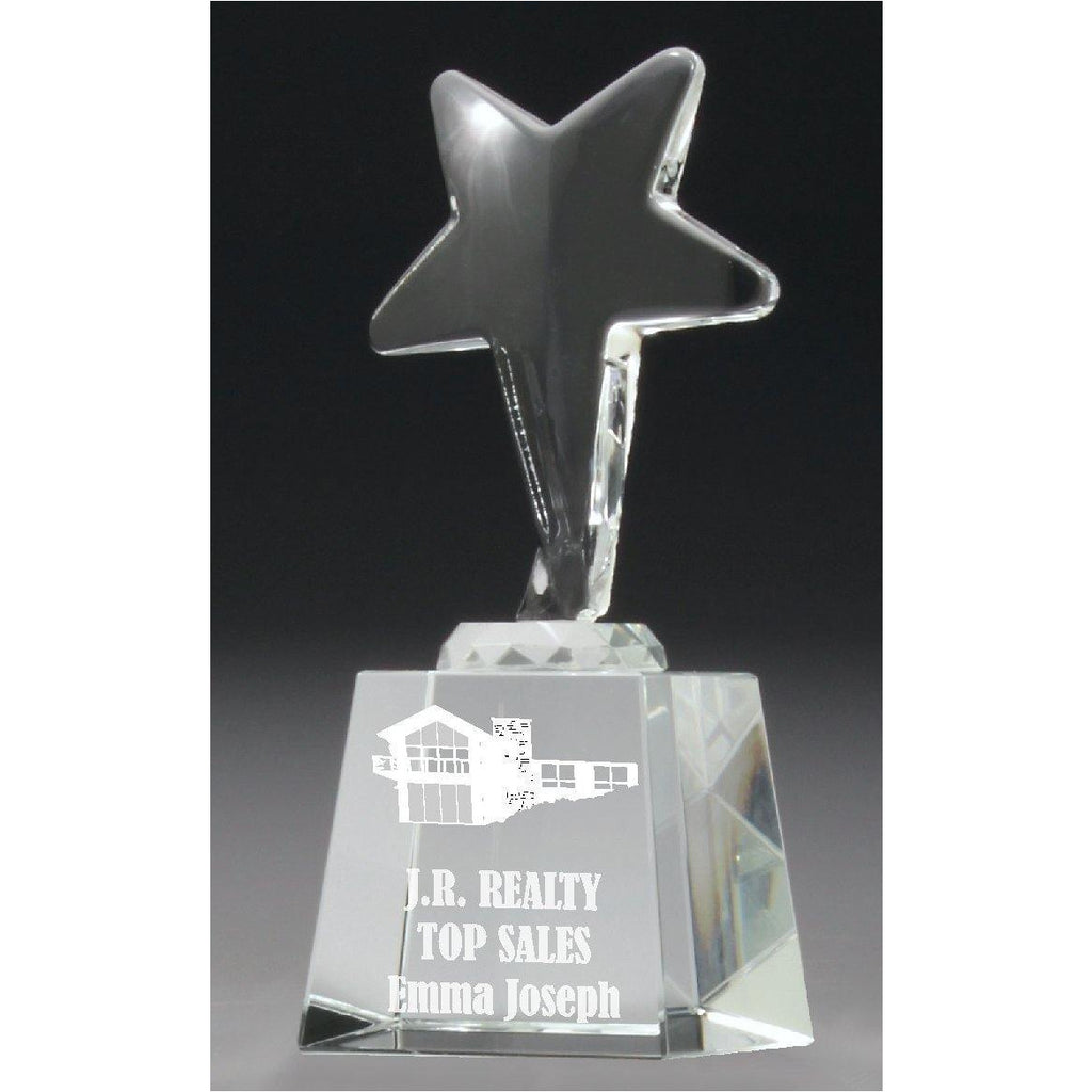 Ice Star Crystal - 140mm - The Trophy Superstore