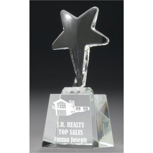 Ice Star Crystal Award freeshipping - The Trophy Superstore