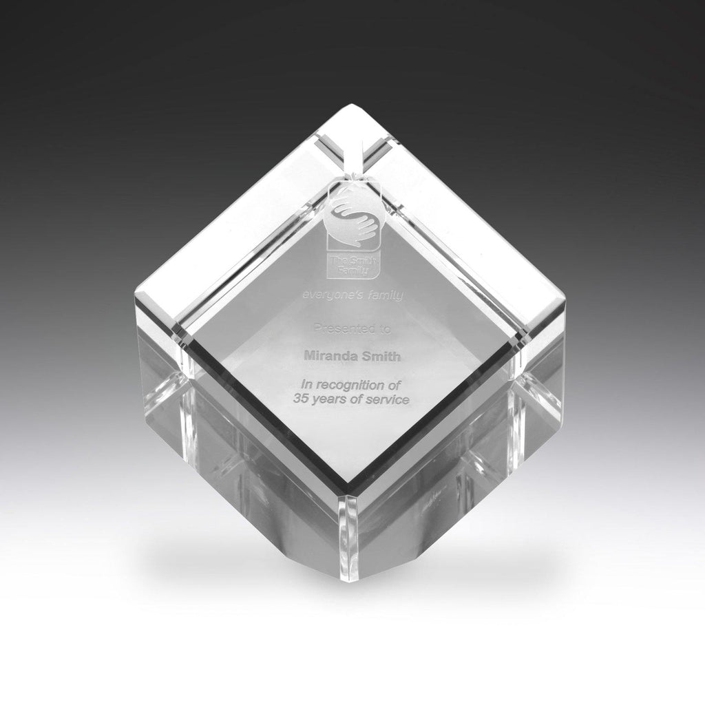 Crystal Cube freeshipping - The Trophy Superstore
