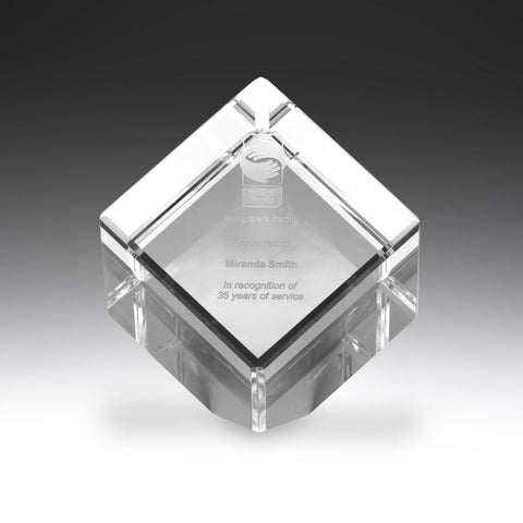 Image of Crystal Cube freeshipping - The Trophy Superstore