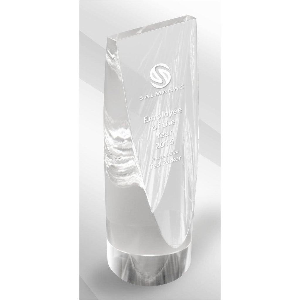 Clear Cylinder Crystal Kaleido Award freeshipping - The Trophy Superstore