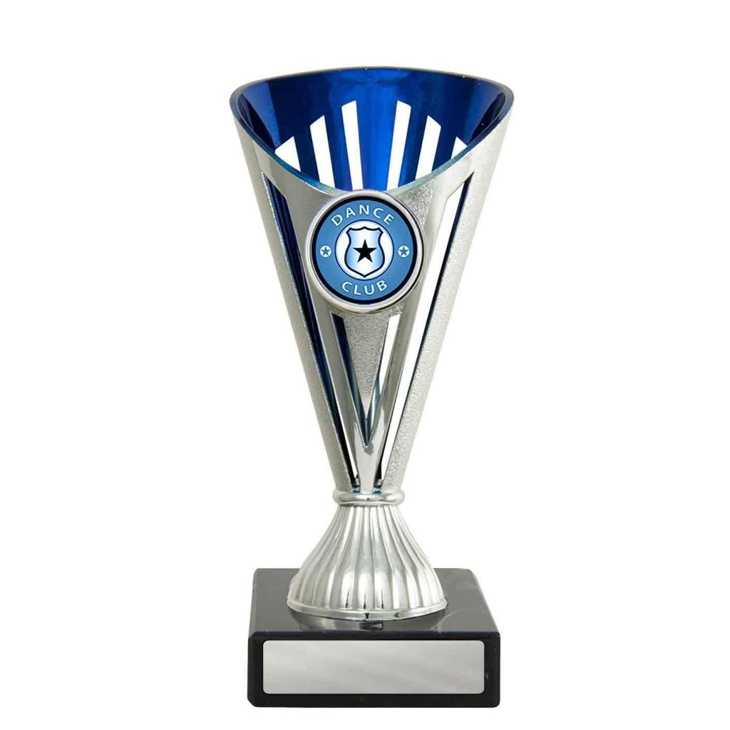 Blue/Silver Fan Budget Cup - 170mm - The Trophy Superstore