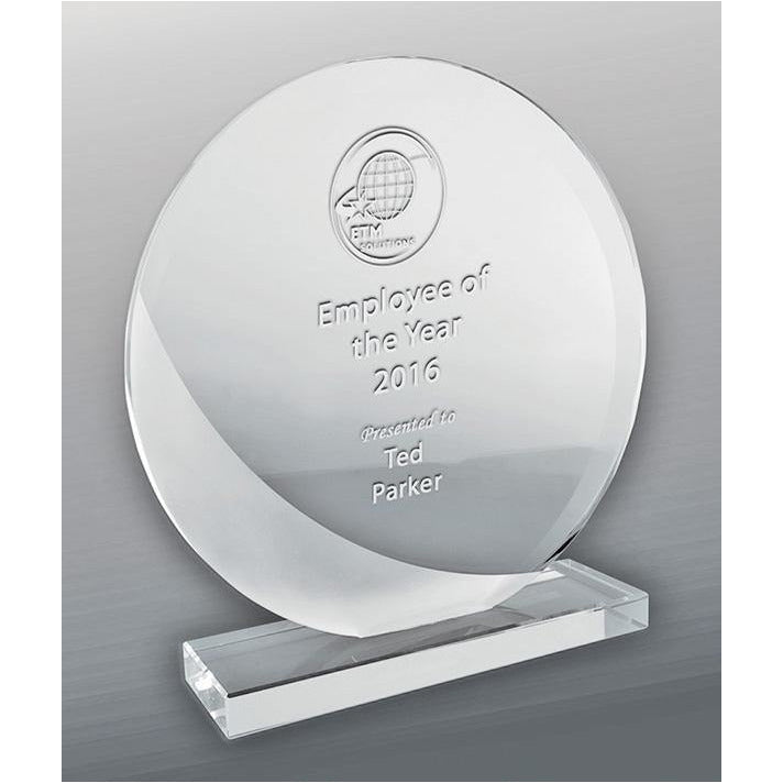 Designer Glass Circle Trophy
