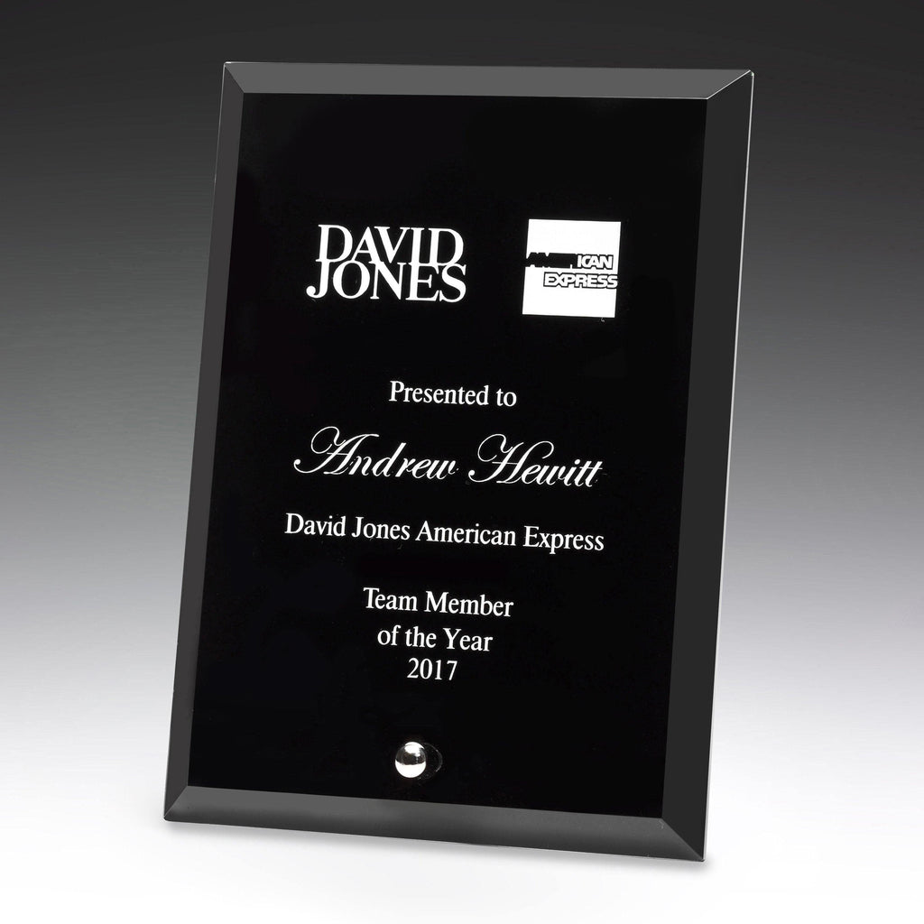 Prime Glass Black Plaque