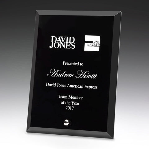 Prime Glass Black Plaque freeshipping - The Trophy Superstore