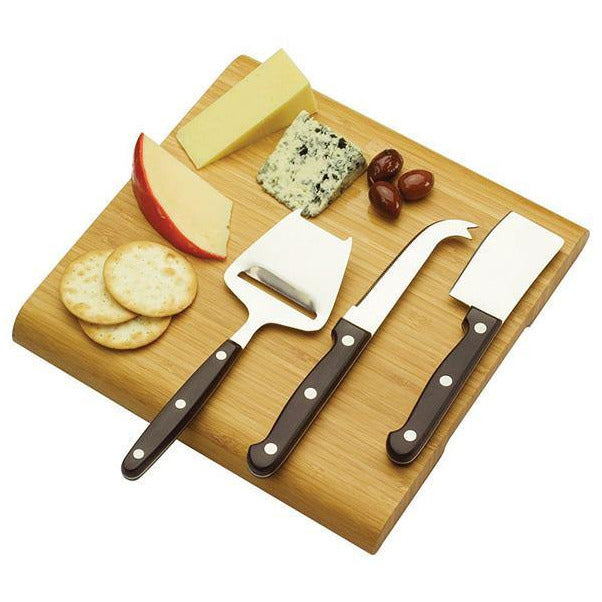Bamboo Cheese Board Set - The Trophy Superstore