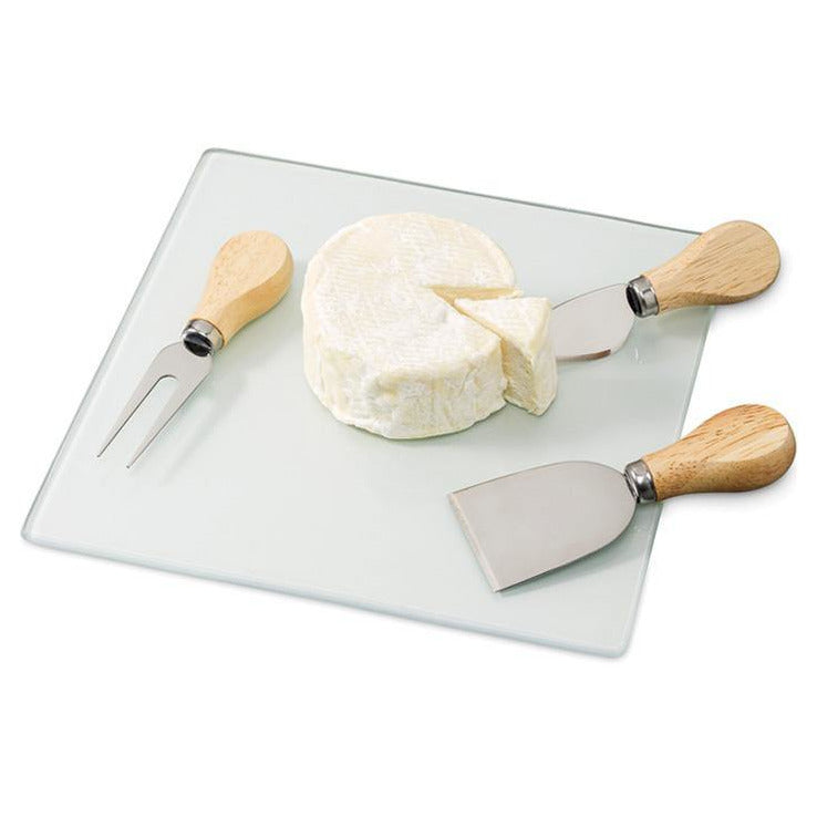 Three Piece Cheese Board Set (Rubber Wood)