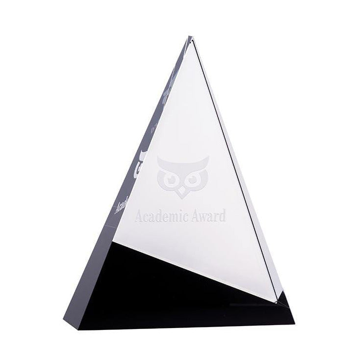 Triangle Ebony Crystal Award - The Trophy Superstore