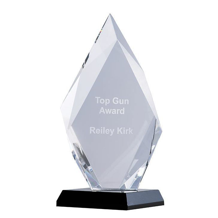 Arrowhead Ebony Crystal Award - The Trophy Superstore