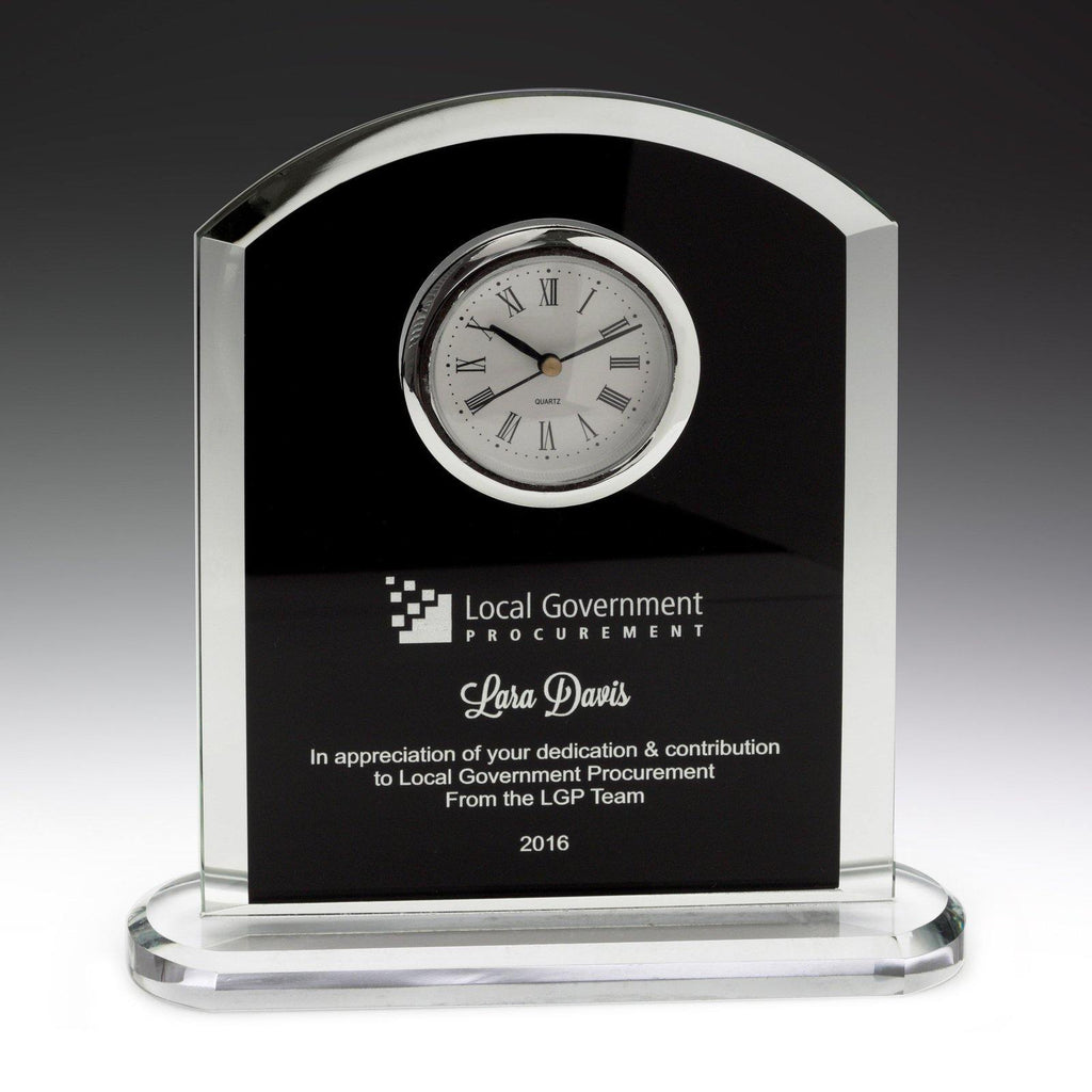 Pax Glass Clock - The Trophy Superstore