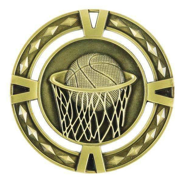 Orbital Series Basketball Medals available in three colours - The Trophy Superstore