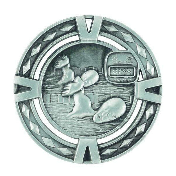 Orbital Series Swimming Medals available in three colours - The Trophy Superstore