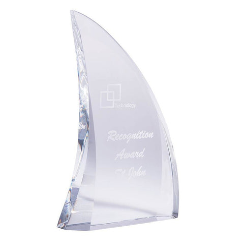 Clear Infiniti Curved Sail freeshipping - The Trophy Superstore