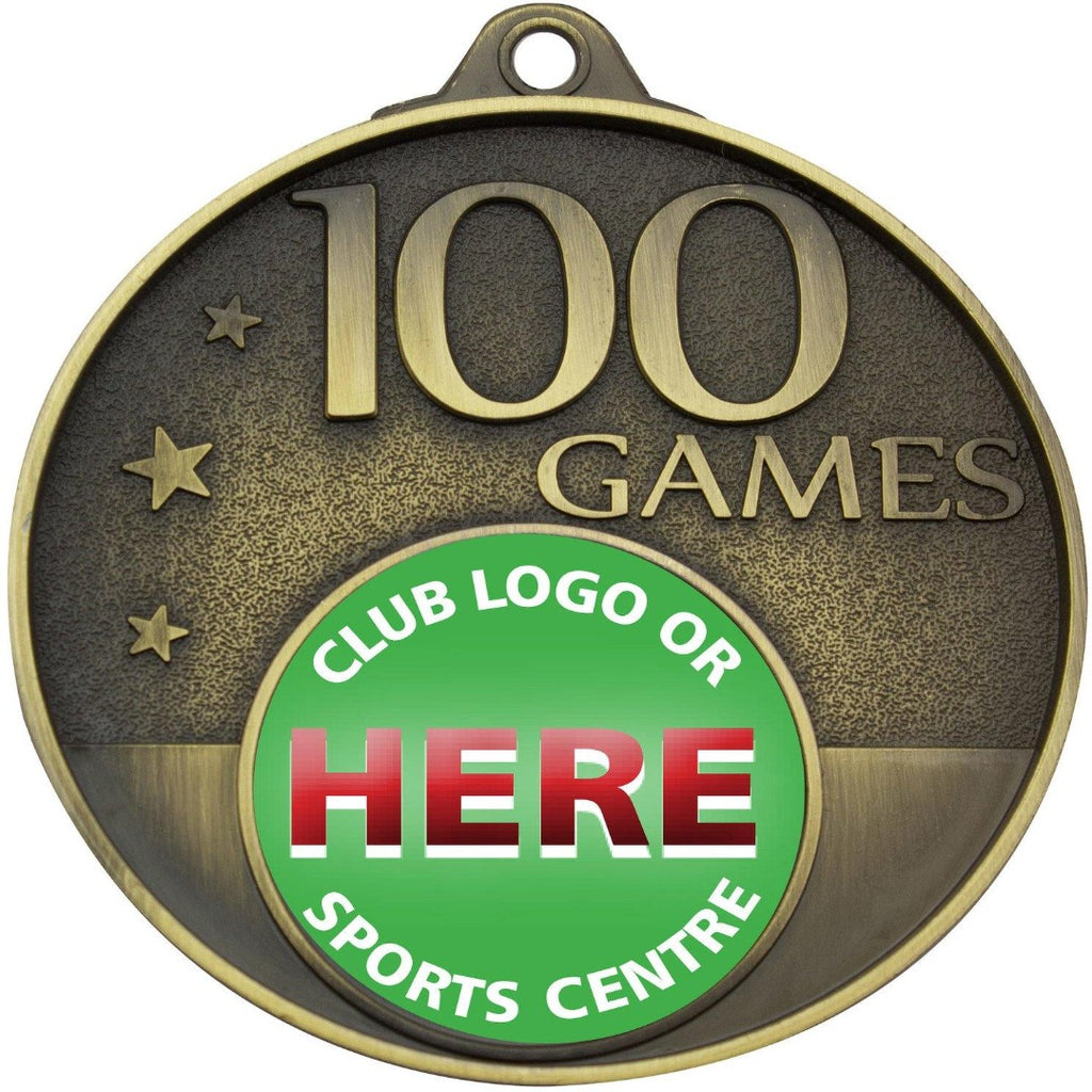 100 Game Gold Medal only available in this colour - The Trophy Superstore