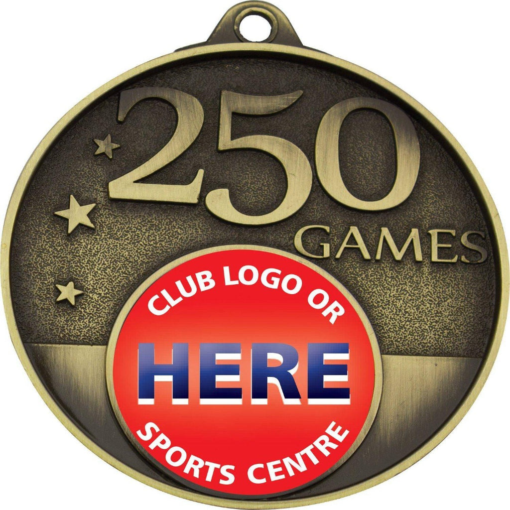 250 Game Medal - MC225G - The Trophy Superstore