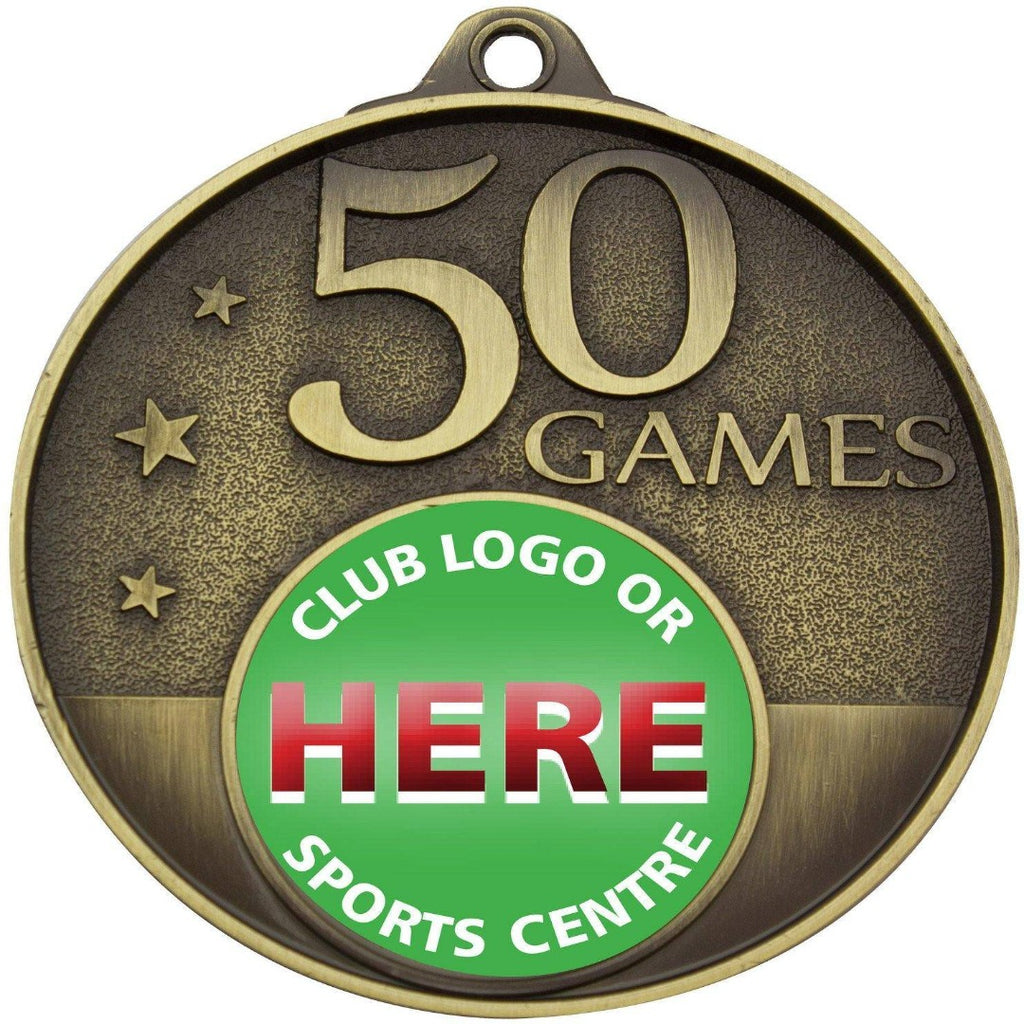 50 Game Medal - MC50G - The Trophy Superstore
