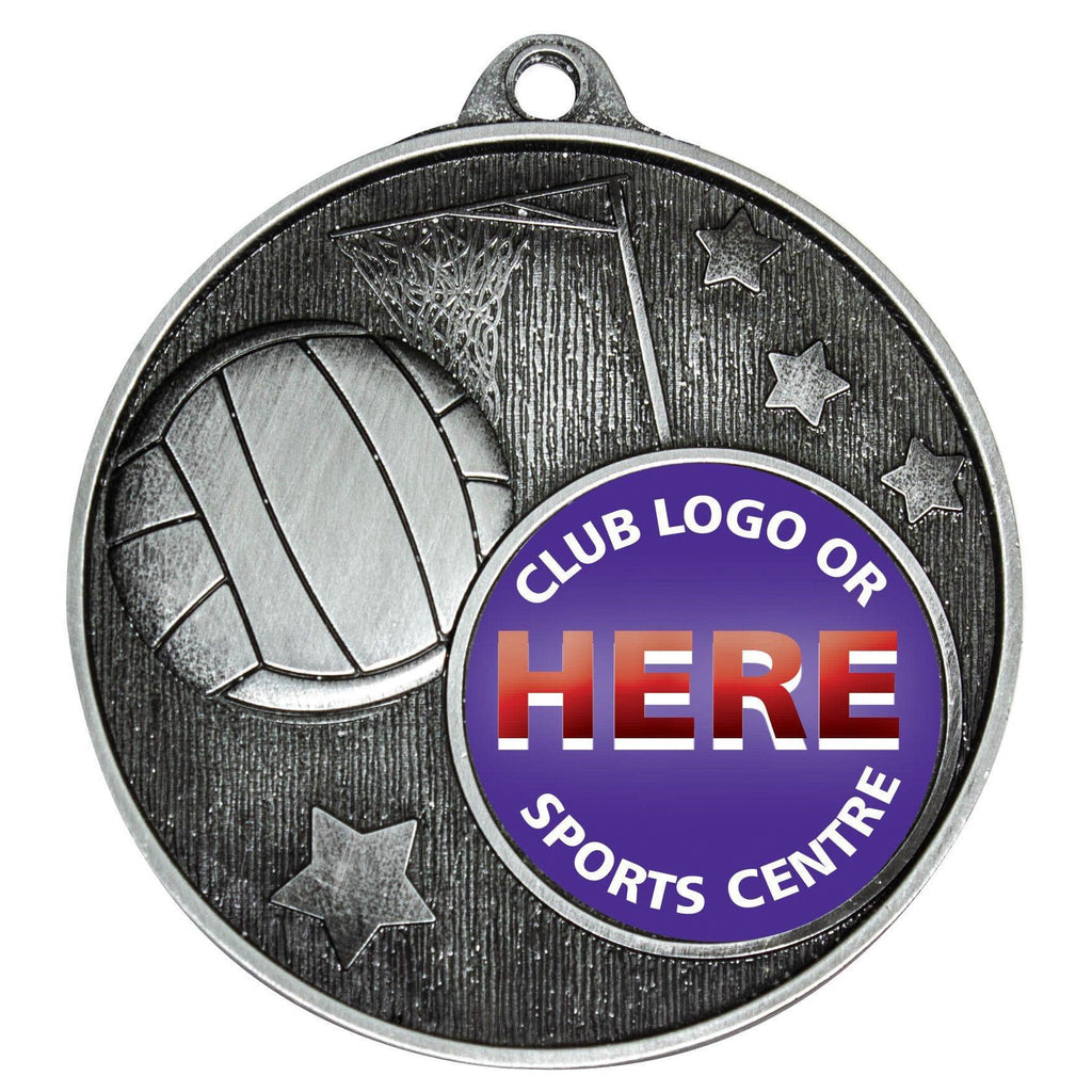 Netball Star Medals available in two colours - The Trophy Superstore