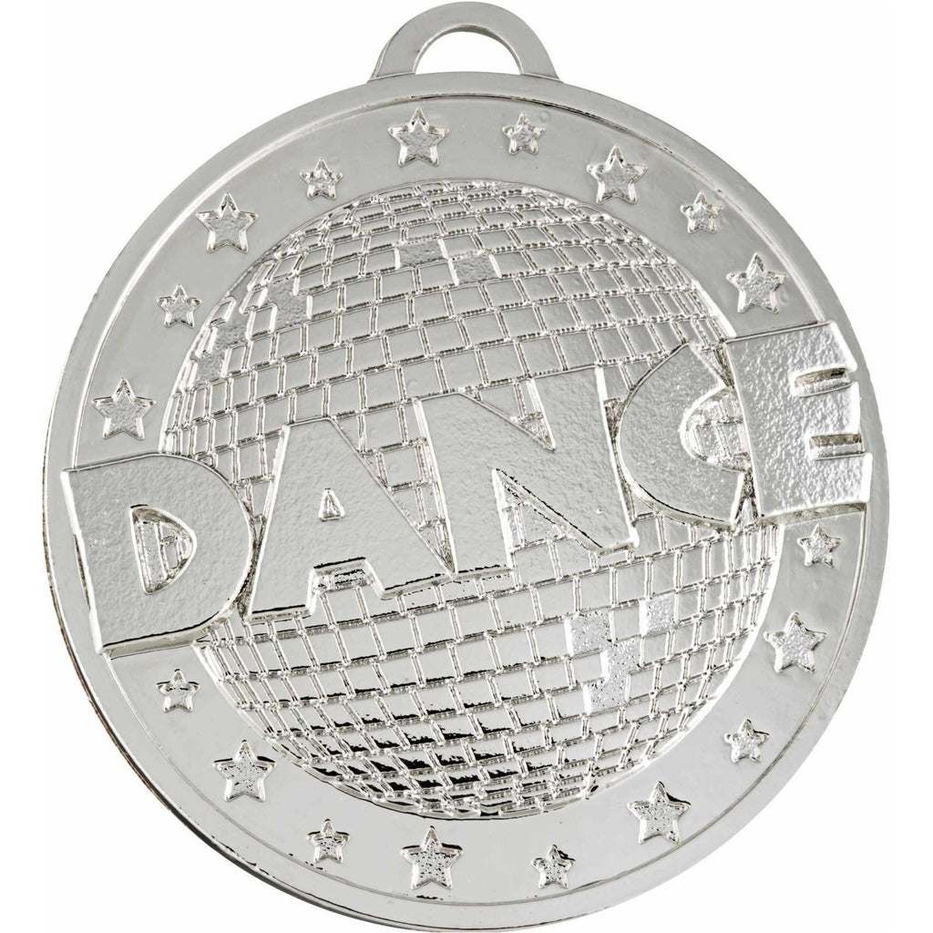 Silver 'Dance' Medal - 50mm - The Trophy Superstore