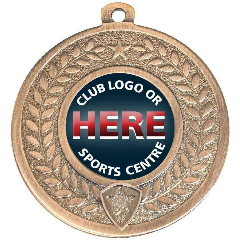 Generic Medal with wreath pattern available in three colours - The Trophy Superstore