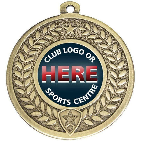 Generic Wreath Medal freeshipping - The Trophy Superstore