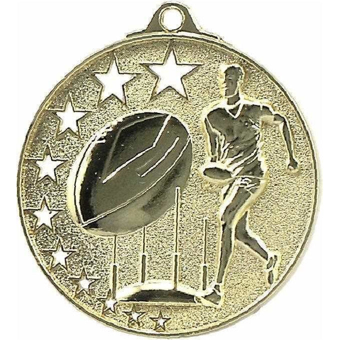 Gold Star AFL Series Medals, available in three colours - The Trophy Superstore