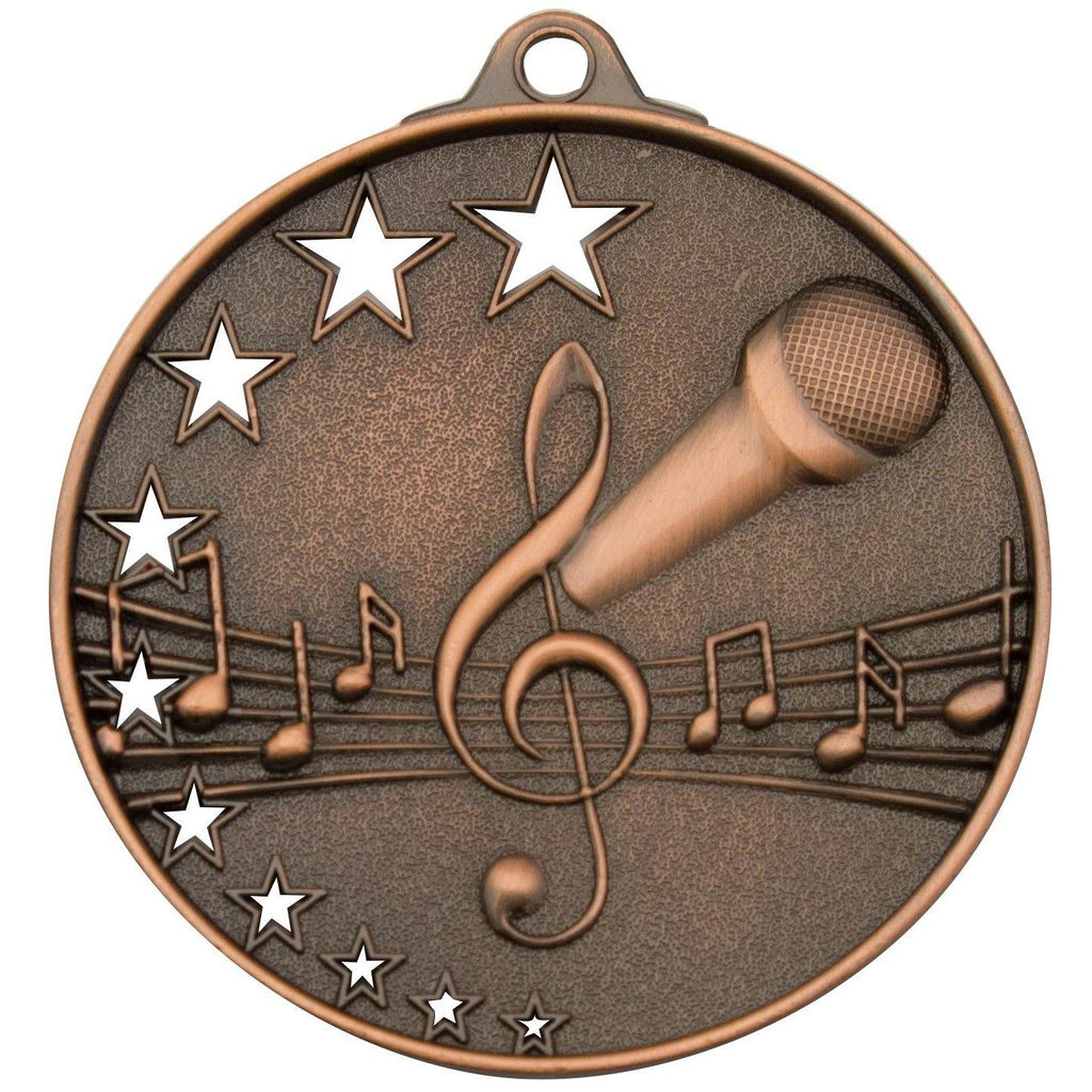 Star Music Series Medals available in three colours - The Trophy Superstore