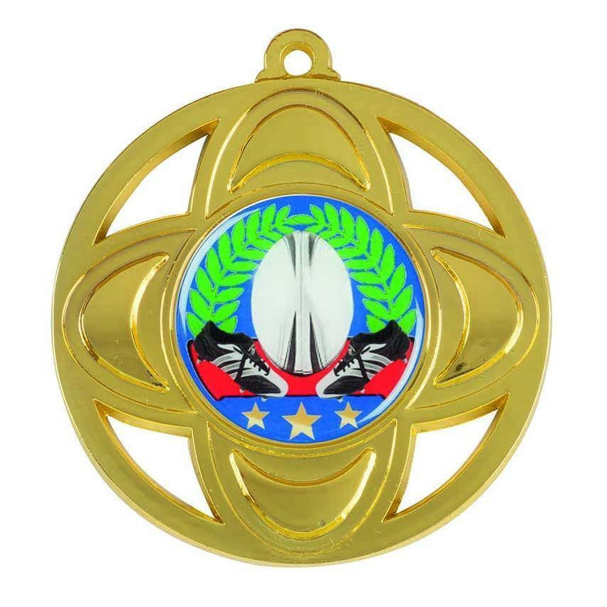 Standard Medallion with four cut outs available in three colours - The Trophy Superstore
