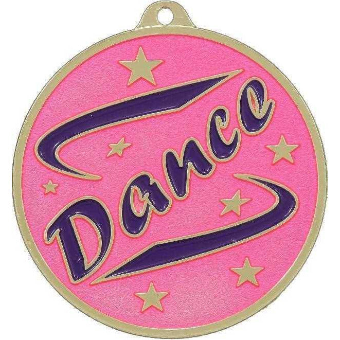 Gold Dance Medal only available in this gold colour - The Trophy Superstore