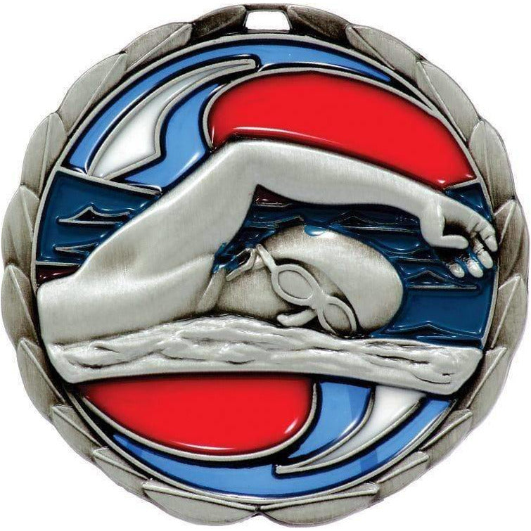Stained Glass Swimming Medals