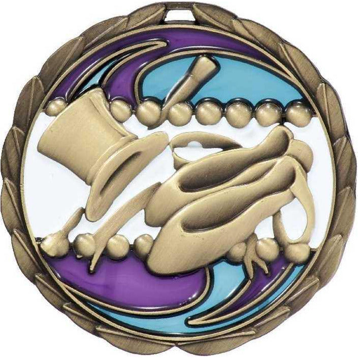 Stained Glass Dance Theme Medal - 65mm - The Trophy Superstore