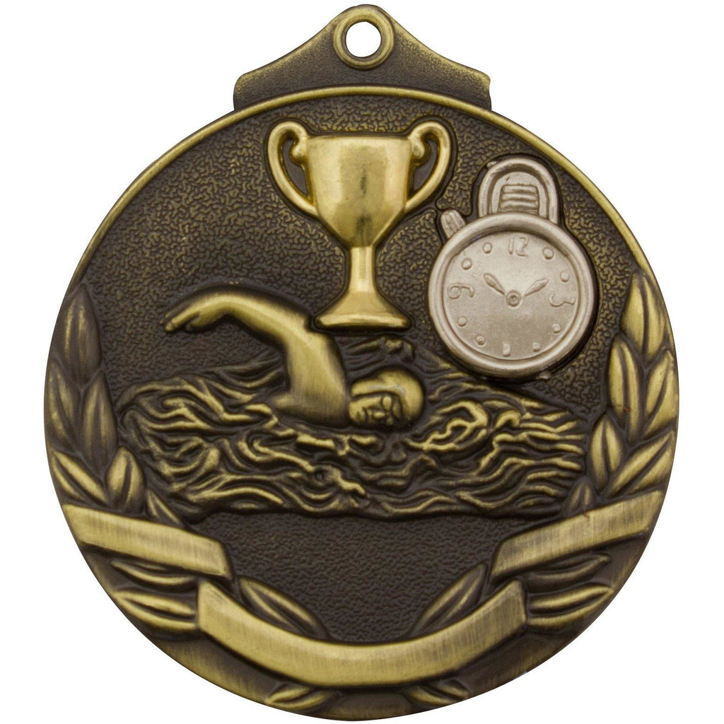Swimming Medallions available in three colours - mt902 - The Trophy Superstore