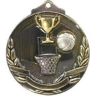 Basketball Two Toned 3D Medal only available in this colour - The Trophy Superstore