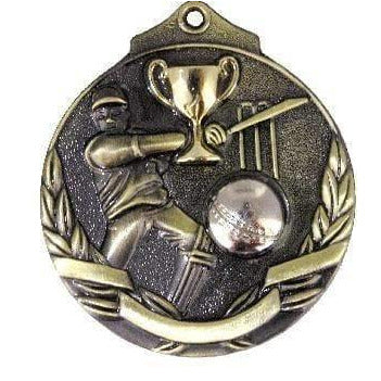 Cricket Medal in Gold with two toned 3D only available in this colour - The Trophy Superstore