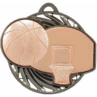 Vortex Series Basketball Medal available in three colours - The Trophy Superstore