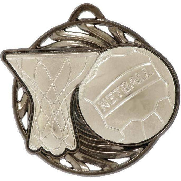 Vortex Series Netball Medal available in three colours - The Trophy Superstore