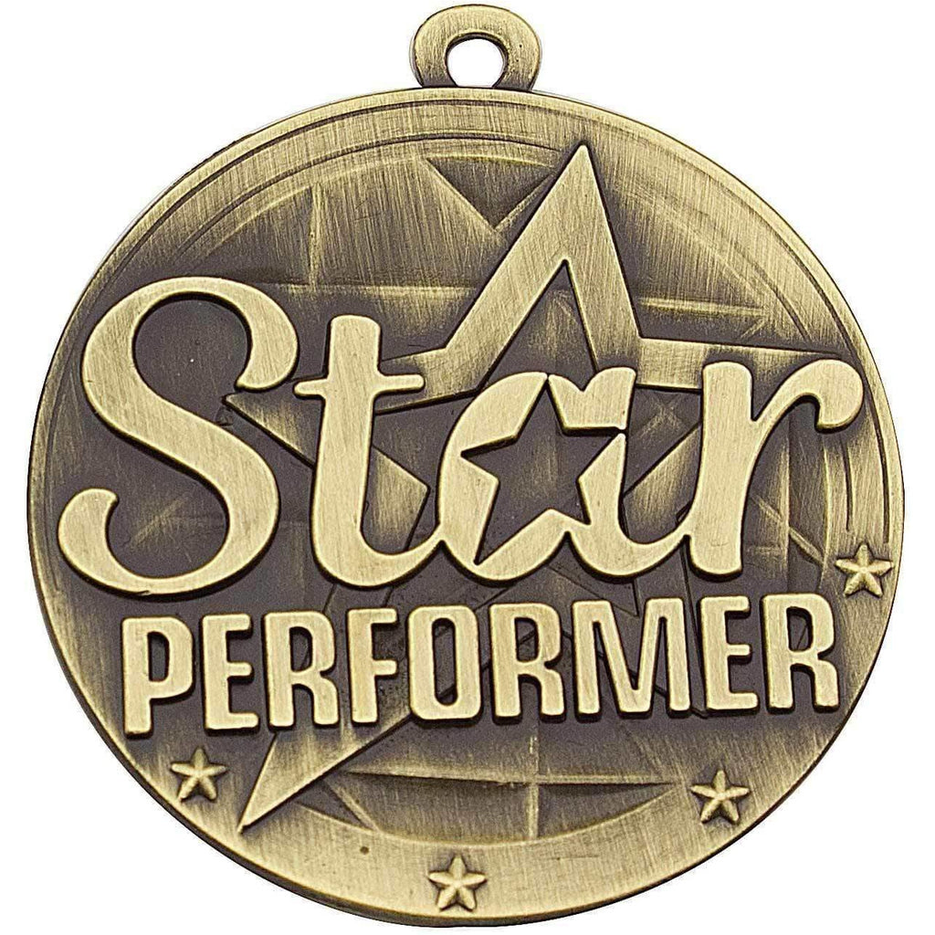 Star Performer Medal - 50mm - The Trophy Superstore