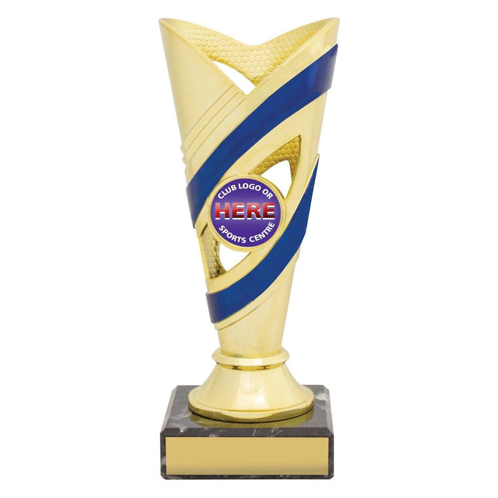 Curve Gold/Blue Cups freeshipping - The Trophy Superstore