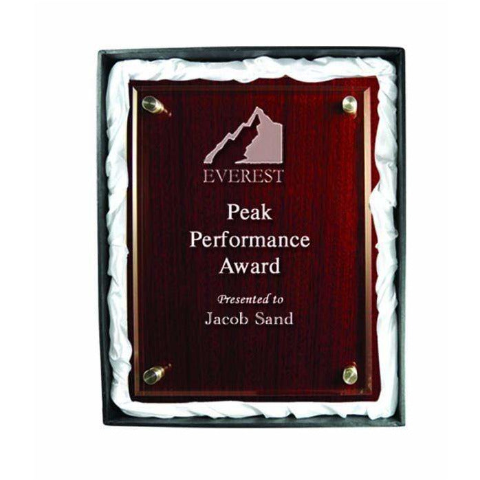 Premium Rosewood & Acrylic Plaque available in thee sizes