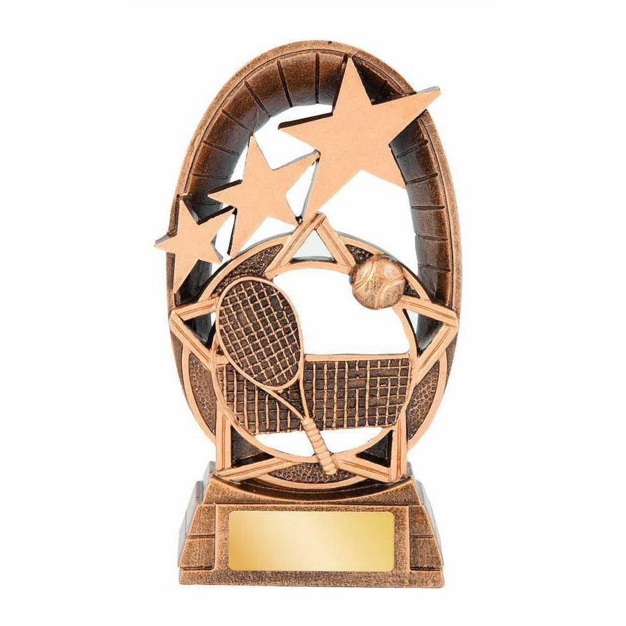 Galaxy Series Tennis Trophy available in three sizes - The Trophy Superstore