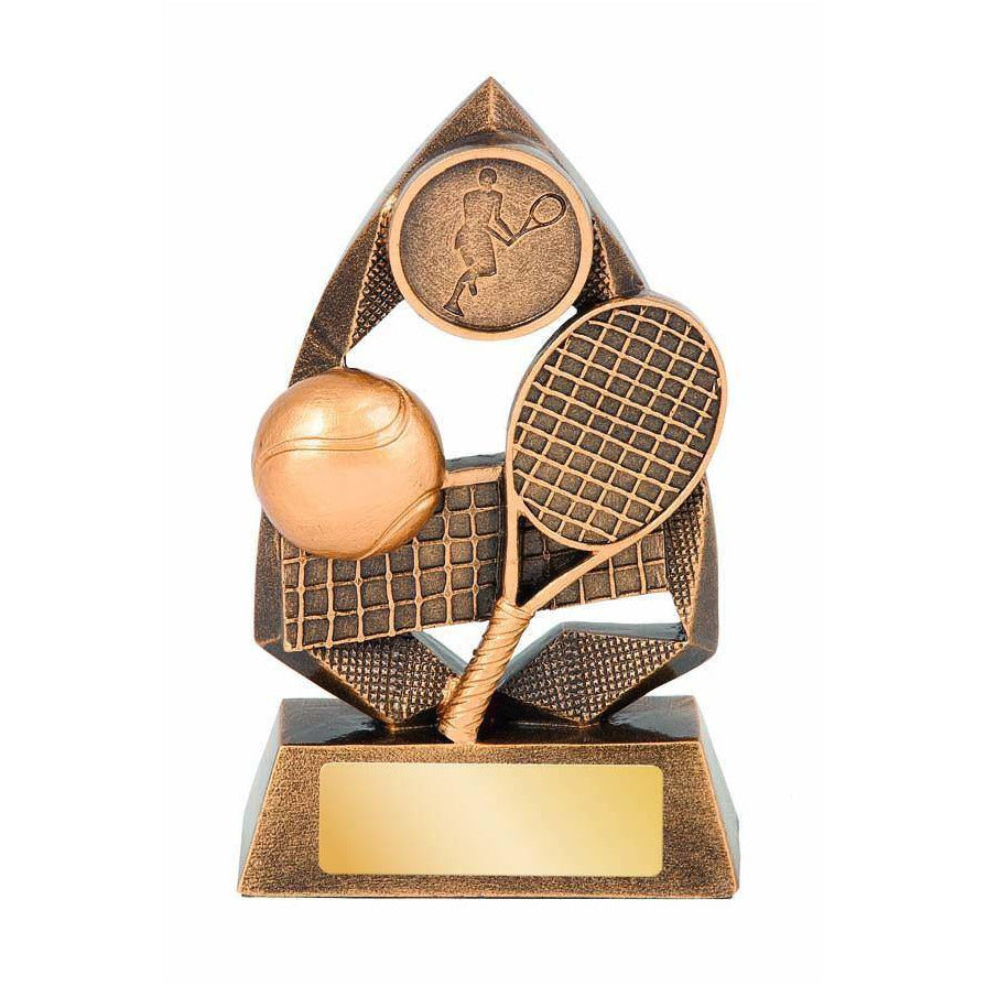 Jewel Series Tennis Trophy available in three sizes - The Trophy Superstore